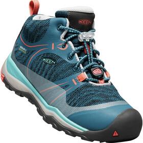 Keen Junior Terradora WP Mid Shoes aqua sea/coral